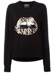 Markus Lupfer Sequin Lips Jumper Black