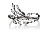 Fallon Women's Crawling Marquis Double Finger Ring No Color