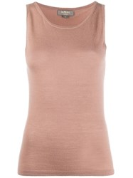 N.Peal Sleeveless Cashmere Top Brown