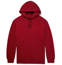 Calvin Klein 205W39nyc Oversized Embroidered Loopback Cotton Jersey Hoodie Claret