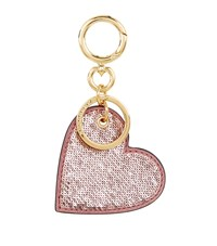 Burberry Shoes And Accessories Sequin Heart Charm Keyring Female Metallic