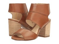 Hush Puppies Sherlyn Malia Tan Leather Women's Wedge Shoes