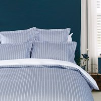 Tommy Hilfiger Sateen Stripe Duvet Cover Navy Super King