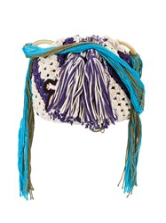 Peter Pilotto Francis Upritchard Applique Crocheted Bag Women Silk Cotton Polyester One Size White
