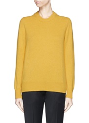 Victoria Beckham Bow Back Lambswool Sweater Yellow