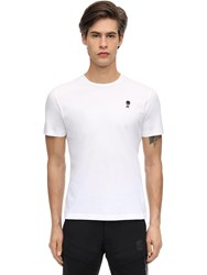 Hydrogen Icon Cotton Jersey T Shirt White