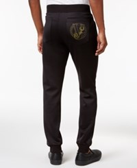 Versace Men's Logo Pocket Jogger Sweatpants Black