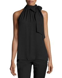 Vince Camuto Halter Tie Neck Top Black