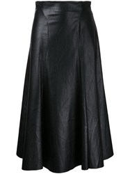 Bianca Spender Leatherette Bebe Skirt Black