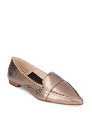 Vince Camuto Maita Casual Leather Flats Silver