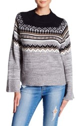 Abound Fair Isle Knit Pullover Grey M Hr Co Fi