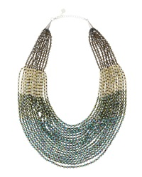 Nakamol Beaded Statement Necklace Green