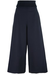 Cedric Charlier High Waisted Trousers Blue