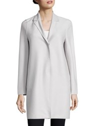 Harris Wharf London Wool Cocoon Coat Ice Grey