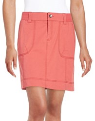 Lord And Taylor Cargo Skirt Brick