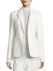 Polo Ralph Lauren Wool Blend Herringbone Blazer White