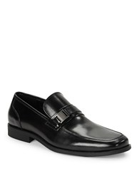 Kenneth Cole Reaction Bottoms Up Leather Loafers Black