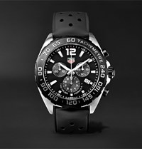Tag Heuer Formula 1 Chronograph 43Mm Stainless Steel And Rubber Watch Ref. No. Caz1010.Ft8024 Black