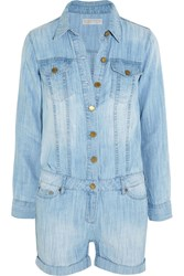 Michael Michael Kors Chambray Playsuit Blue