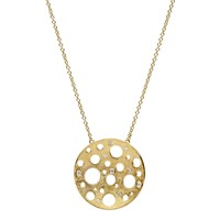 Muscari Jewellery Golden Round Moon Large Necklace