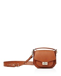 The Kooples Emily Mini Leather Saddle Bag Camel