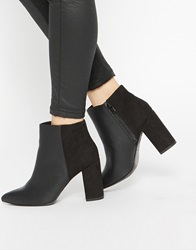 New Look Wide Fit Block Heeled Ankle Boots Black
