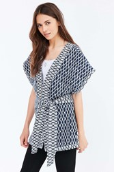 Ecote Quilted Seed Stitch Kimono Blue