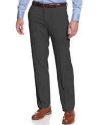 Kenneth Cole Reaction Straight Fit Vertical Texture Pants Charcoal
