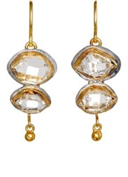 Judy Geib Women's Double Drop Earrings Gold