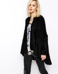 Religion Oversized Fluffy Longline Cardigan