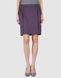 Miss Sixty Knee Length Skirts Purple