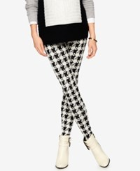 Isabella Oliver Maternity Printed Leggings Houndstooth Print