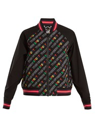 The Upside Sport Logo Print Bomber Jacket Black Multi
