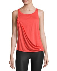Alo Yoga Passage Draped Athletic Tank Bright Red