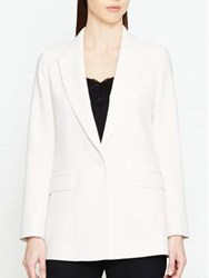 Reiss Rox Tailored Tux Jacket Off White