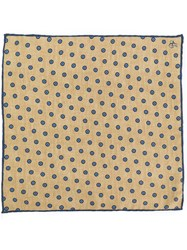 Canali Flower Spot Pocket Square Yellow And Orange