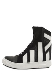 Artselab Ponyskin And Leather High Top Sneakers