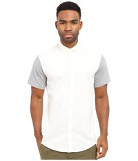 Publish Hans Premium Oxford Short Sleeve Button Up White Men's Clothing