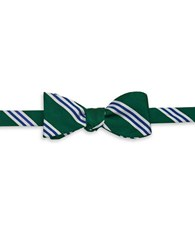 Brooks Brothers Striped Bow Tie Green