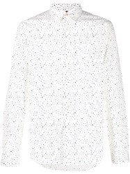 Paul Smith Dotted Dress Shirt White