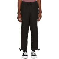 Saturdays Surf Nyc Black Linen Markus Trousers
