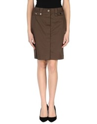 Marella Knee Length Skirts Dark Brown