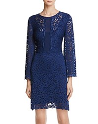 Laundry By Shelli Segal Bell Sleeve Lace Dress Midnight