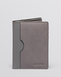 Jack Spade Grant Leather Vertical Flap Wallet Charcoal