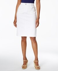 Charter Club Denim Pencil Skirt Only At Macy's White Wash