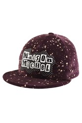 Maison Michel Printed Cotton Baseball Cap Purple