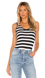 N Philanthropy Istanbul Bodysuit In Black And White. Black Cat Stripe