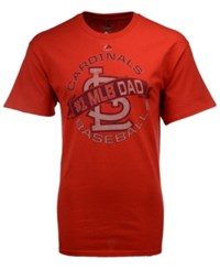 Majestic Men's St. Louis Cardinals Baseball Dad T Shirt Red