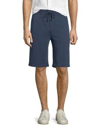 Vince Solid Knit Sweat Shorts Dutch Navy