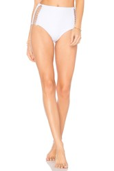 Dion Lee Laced Coil High Waisted Bottom White